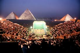 Squash in front of Pyramids